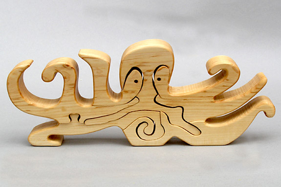 Wooden Animal Puzzle Wooden Sea Life Puzzle